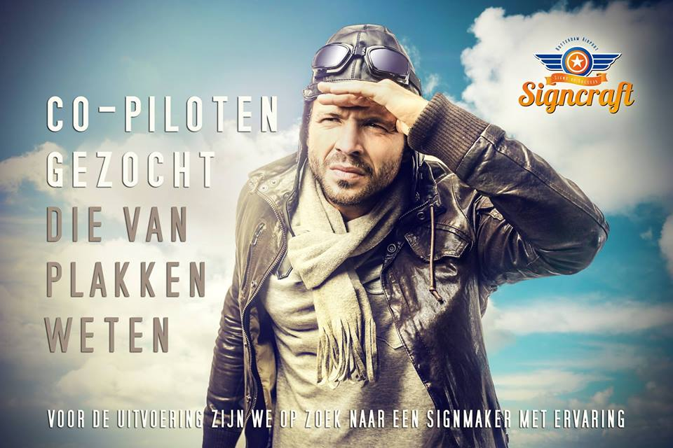 Signmaker signcraft-co-piloten-gezocht