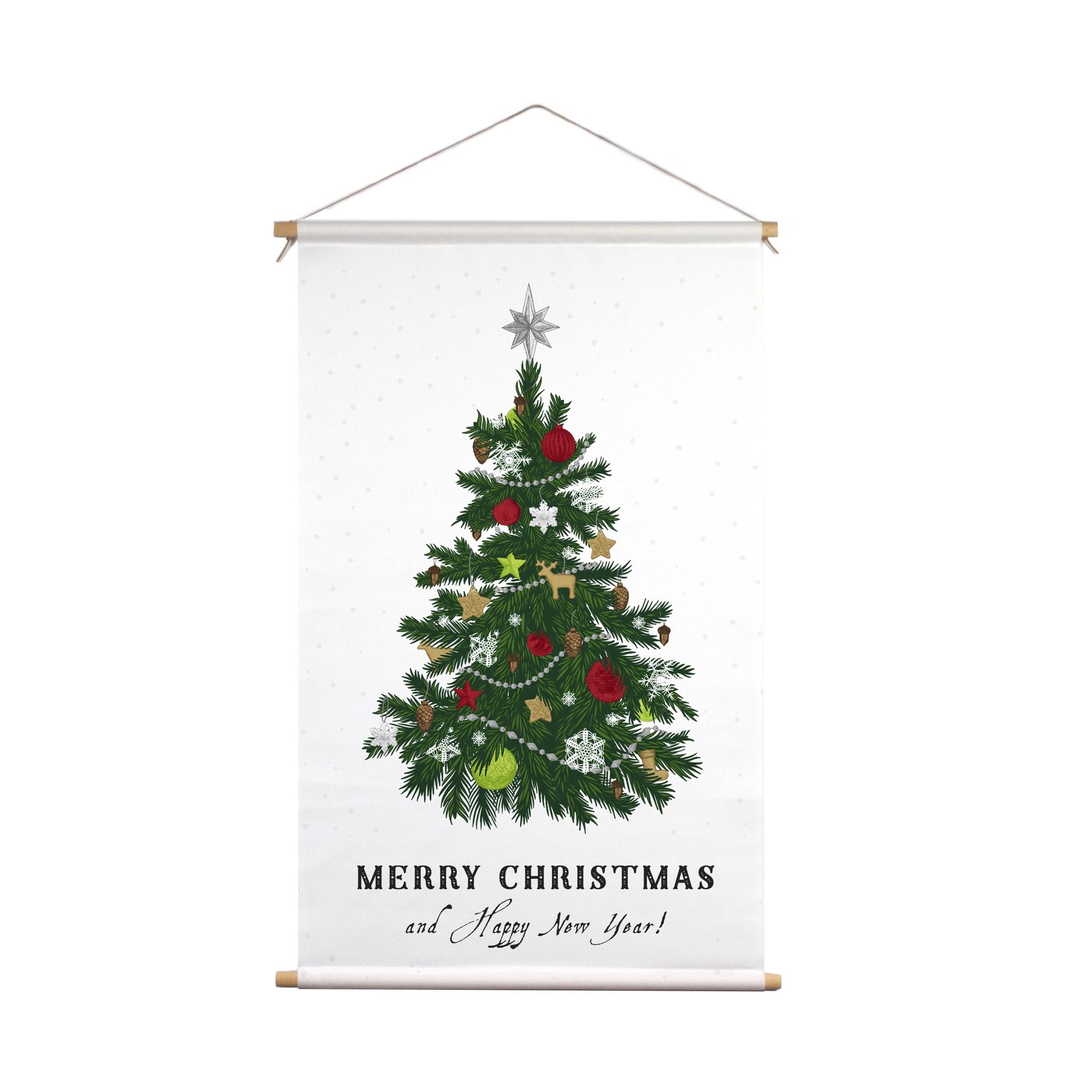 Signcraft-Rotterdam_interieur-textielposter-kerstboom-print