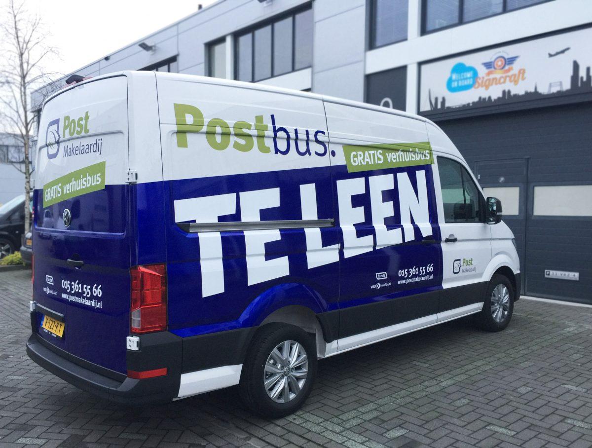 signcraft-rotterdam-autobelettering-post-makelaardij-wrap-postbus