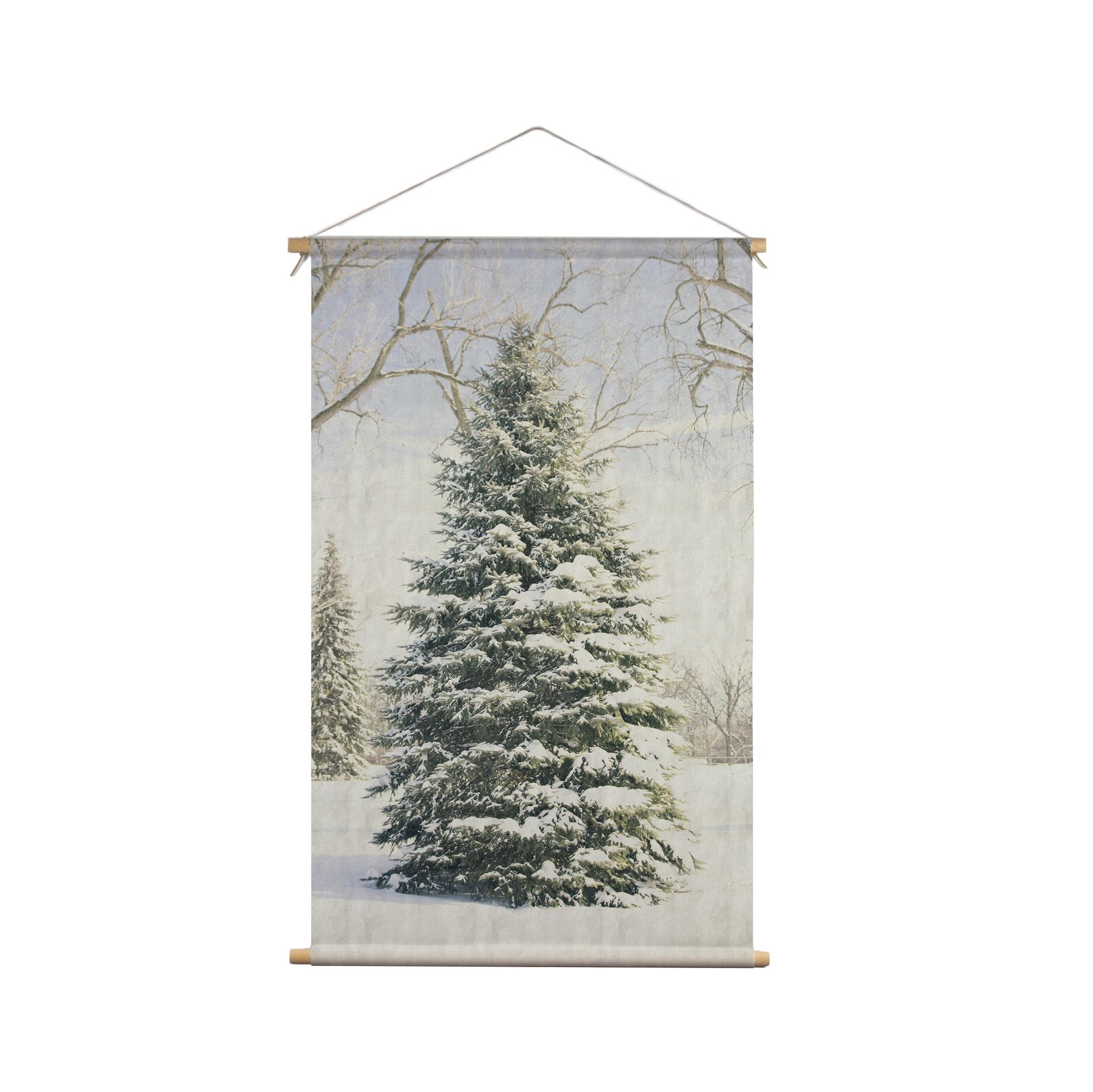 Signcraft-rotterdam_interieur-kerst-textielposter-print-kerstboom-vintage-natuur