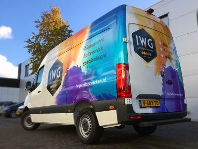 signcraft-rotterdam-carwrap-belettering-autoreclame-iwg-schilderwerken-Rogam-mercedes-wrap