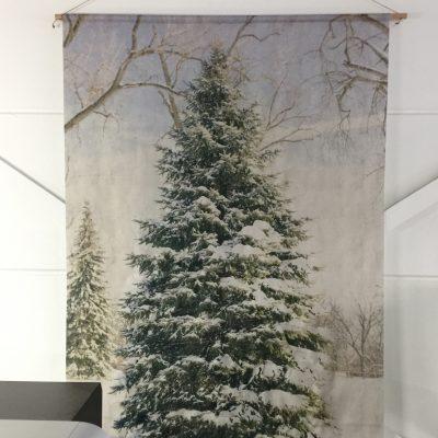 Signcraft-rotterdam_interieur-kerst-textielposter-print-kerstboom-vintage-natuur-kantoor