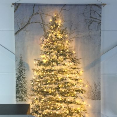 Signcraft-rotterdam_interieur-kerst-textielposter-print-kerstboom-vintage-natuur-kantoor-lampjes