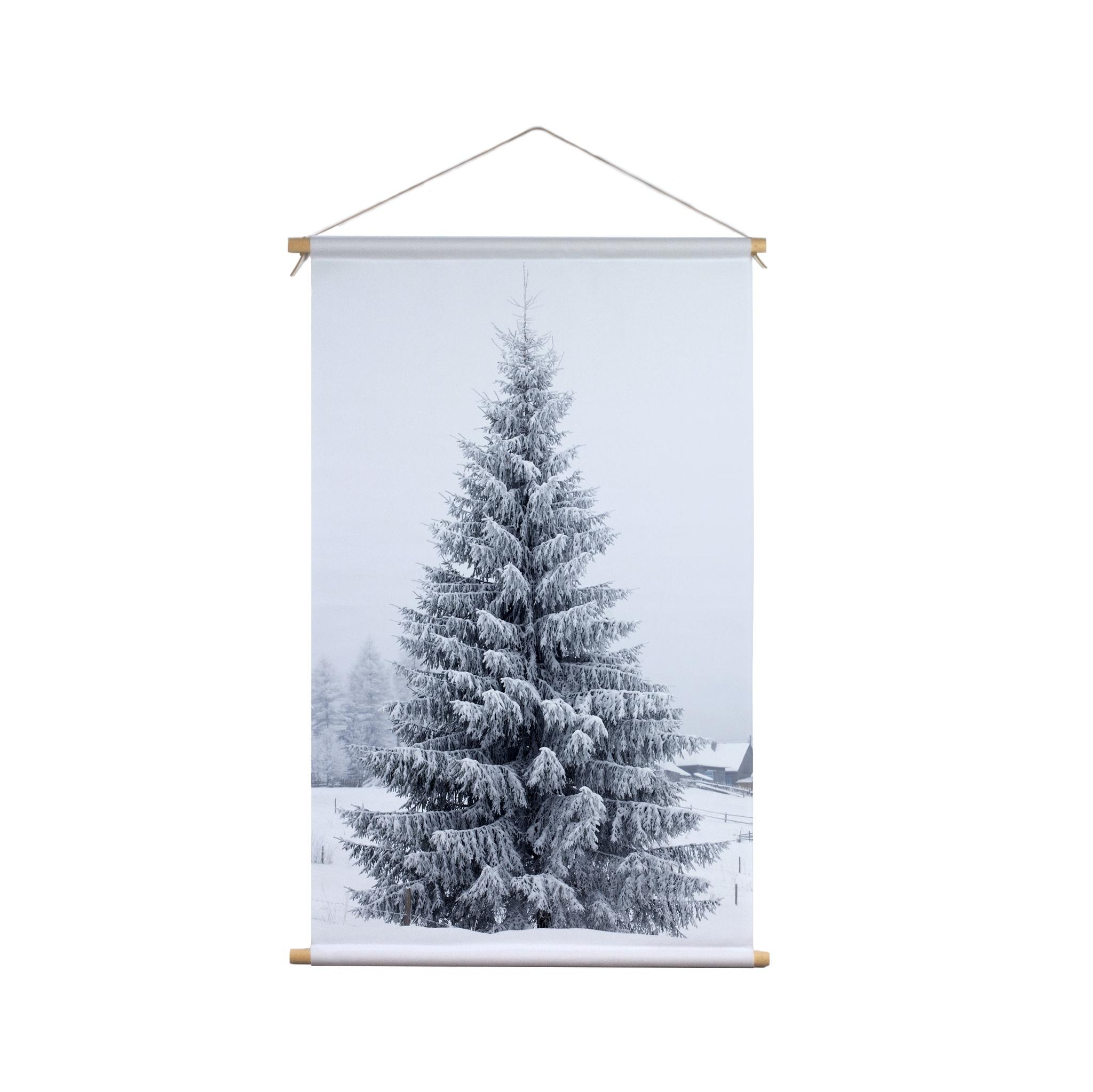Signcraft-rotterdam_interieur-kerst-textielposter-print-kerstboom-natuur-wit