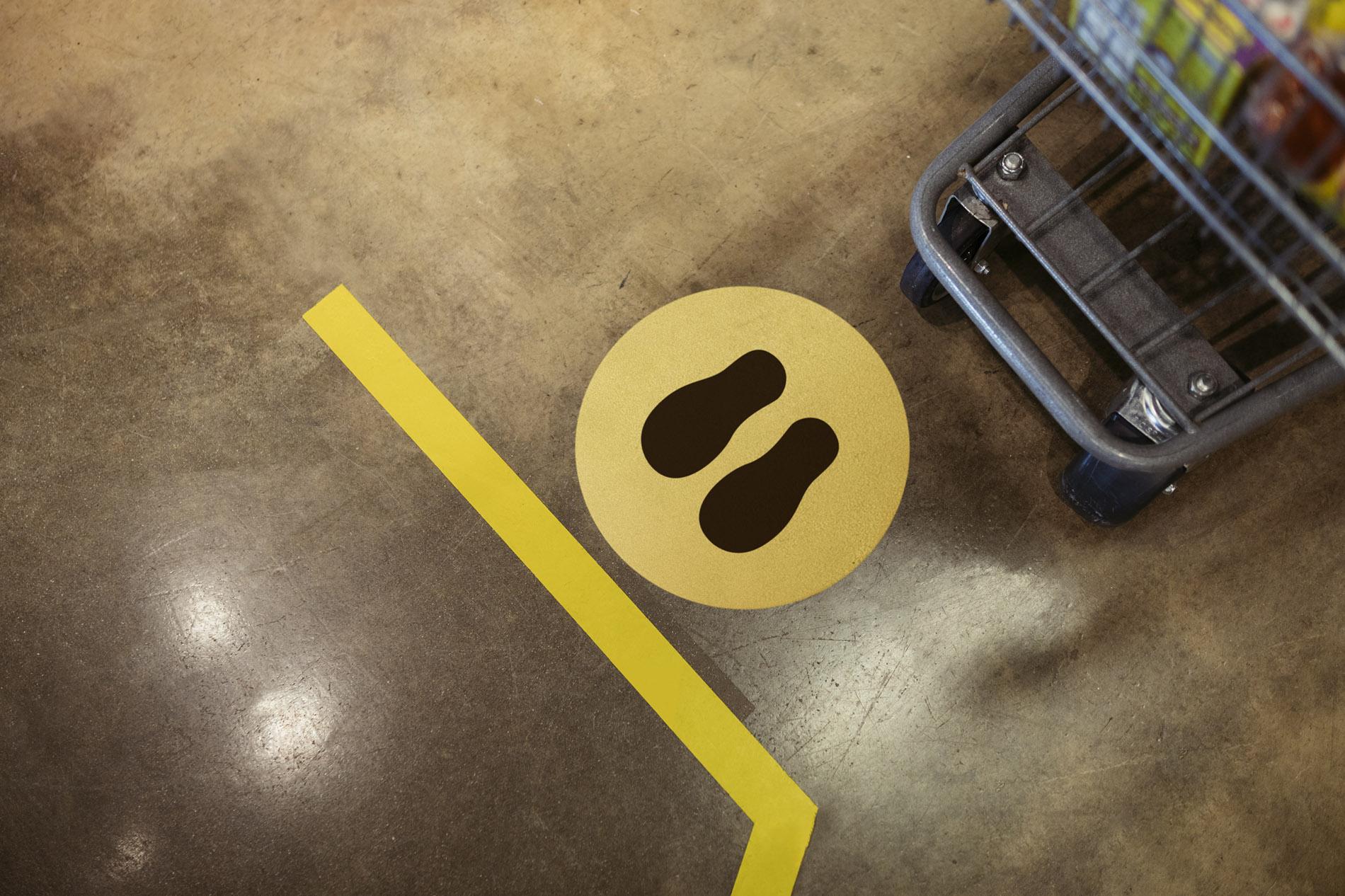 signcraft-rotterdam-vloerstickers-corona-maatregelen-signing-vloer-sticker-even-geduld-aub